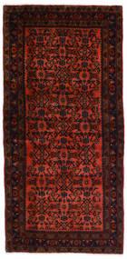 Hamadan Matto 98X214 Itämainen Käsinsolmittu Tummanruskea/Ruoste (Villa, Persia/Iran)