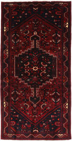 Hamadan Matto 102X205 Itämainen Käsinsolmittu Tummanpunainen (Villa, Persia/Iran)