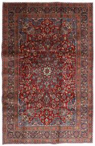 Mashad Matto 198X301 Itämainen Käsinsolmittu Tummanpunainen/Tummanharmaa (Villa, Persia/Iran)