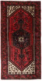 Hamadan Matto 102X202 Itämainen Käsinsolmittu Tummanpunainen (Villa, Persia/Iran)