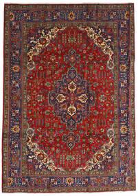 Tabriz Matto 240X333 Itämainen Käsinsolmittu Tummanpunainen/Tummanharmaa (Villa, Persia/Iran)
