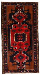 Hamadan Matto 102X198 Itämainen Käsinsolmittu Tummanruskea/Ruoste (Villa, Persia/Iran)