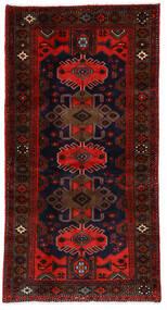 Hamadan Matto 101X191 Itämainen Käsinsolmittu Tummanruskea/Ruoste (Villa, Persia/Iran)