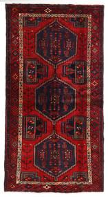 Hamadan Matto 105X200 Itämainen Käsinsolmittu Tummanpunainen/Ruoste (Villa, Persia/Iran)