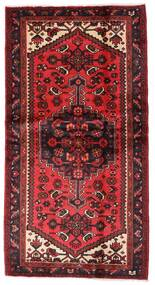 Hamadan Matto 101X192 Itämainen Käsinsolmittu Tummanpunainen/Ruoste (Villa, Persia/Iran)