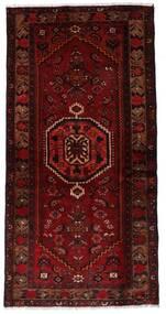 Hamadan Matto 99X196 Itämainen Käsinsolmittu Tummanpunainen/Tummanruskea (Villa, Persia/Iran)