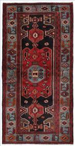 Hamadan Matto 104X207 Itämainen Käsinsolmittu Tummanpunainen/Tummanruskea (Villa, Persia/Iran)