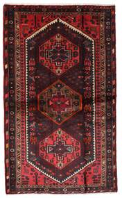 Hamadan Matto 110X185 Itämainen Käsinsolmittu Tummanpunainen/Tummanruskea (Villa, Persia/Iran)