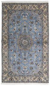 Nain 9La Matto 127X215 Itämainen Käsinsolmittu Tummanharmaa/Vaaleanharmaa (Villa/Silkki, Persia/Iran)