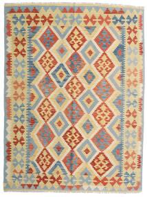 Kelim Afghan Old Style Matto 153X205 Itämainen Käsinkudottu Beige/Tummanbeige (Villa, Afganistan)