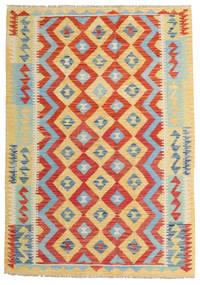 Kelim Afghan Old Style Matto 124X175 Itämainen Käsinkudottu Tummanbeige/Ruoste (Villa, Afganistan)