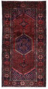 Hamadan Matto 103X196 Itämainen Käsinsolmittu Tummanpunainen (Villa, Persia/Iran)