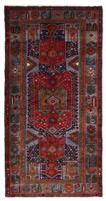 Hamadan Matto 99X198 Itämainen Käsinsolmittu Tummanpunainen/Tummanharmaa (Villa, Persia/Iran)