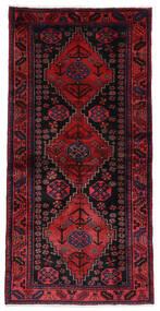 Hamadan Matto 104X208 Itämainen Käsinsolmittu Tummanvioletti/Tummanpunainen (Villa, Persia/Iran)