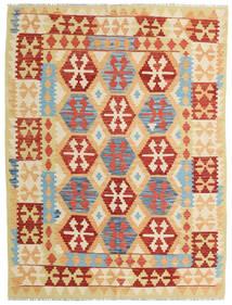 Kelim Afghan Old Style Matto 151X200 Itämainen Käsinkudottu Tummanbeige/Beige (Villa, Afganistan)