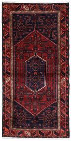 Hamadan Matto 100X201 Itämainen Käsinsolmittu Tummanvioletti/Tummanpunainen (Villa, Persia/Iran)