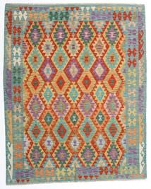 Kelim Afghan Old Style Matto 162X198 Itämainen Käsinkudottu Beige/Siniturkoosi (Villa, Afganistan)
