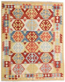 Kelim Afghan Old Style Matto 158X200 Itämainen Käsinkudottu Tummanbeige/Tummanpunainen (Villa, Afganistan)
