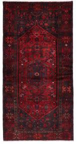 Hamadan Matto 107X205 Itämainen Käsinsolmittu Tummanpunainen (Villa, Persia/Iran)