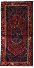 Hamadan Matto 97X202 Itämainen Käsinsolmittu Tummanpunainen (Villa, Persia/Iran)