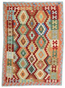 Kelim Afghan Old Style Matto 150X203 Itämainen Käsinkudottu Punainen/Tummanbeige (Villa, Afganistan)