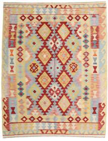 Kelim Afghan Old Style Matto 157X194 Itämainen Käsinkudottu Tummanbeige/Vaaleanharmaa (Villa, Afganistan)