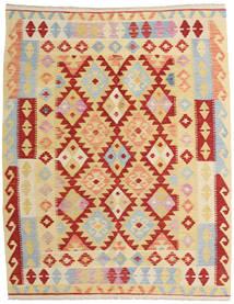 Kelim Afghan Old Style Matto 155X192 Itämainen Käsinkudottu Tummanbeige/Tummanpunainen (Villa, Afganistan)