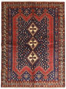 Afshar Matto 158X210 Itämainen Käsinsolmittu Tummanpunainen/Musta (Villa, Persia/Iran)