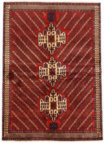 Afshar Matto 161X222 Itämainen Käsinsolmittu Tummanpunainen/Musta (Villa, Persia/Iran)