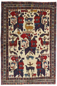 Afshar Matto 126X188 Itämainen Käsinsolmittu Tummanharmaa/Tummanpunainen (Villa, Persia/Iran)