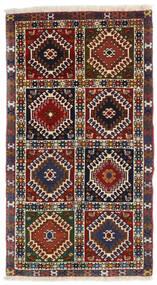 Yalameh Matto 60X105 Itämainen Käsinsolmittu Tummanpunainen/Musta (Villa, Persia/Iran)