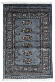 Pakistan Bokhara 3Ply Matto 77X117 Itämainen Käsinsolmittu Tummanharmaa/Sininen (Villa, Pakistan)