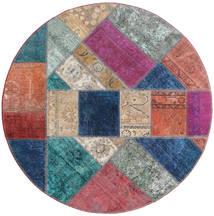 Patchwork - Persien/Iran Matto Ø 150 Moderni Käsinsolmittu Pyöreä Violetti/Tummansininen (Villa, Persia/Iran)