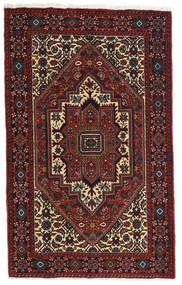 Gholtogh Matto 81X129 Itämainen Käsinsolmittu Tummanpunainen/Tummanruskea (Villa, Persia/Iran)