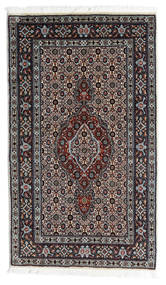 Moud Matto 69X118 Itämainen Käsinsolmittu Musta/Valkoinen/Creme (Villa/Silkki, Persia/Iran)
