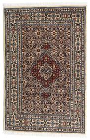 Moud Matto 79X122 Itämainen Käsinsolmittu Vaaleanharmaa/Musta (Villa/Silkki, Persia/Iran)