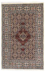 Moud Matto 80X122 Itämainen Käsinsolmittu Tummanruskea/Beige (Villa/Silkki, Persia/Iran)