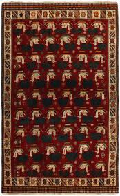 Ghashghai Matto 118X194 Itämainen Käsinsolmittu Punainen/Tummanpunainen (Villa, Persia/Iran)