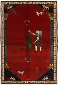 Ghashghai Matto 192X283 Itämainen Käsinsolmittu Tummanpunainen/Punainen (Villa, Persia/Iran)
