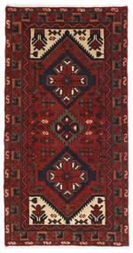 Hamadan Matto 70X133 Itämainen Käsinsolmittu Tummanpunainen/Musta (Villa, Persia/Iran)