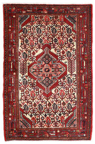 Asadabad Matto 80X122 Itämainen Käsinsolmittu Tummanpunainen/Beige (Villa, Persia/Iran)