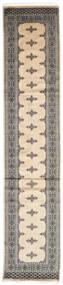 Pakistan Bokhara 2Ply Matto 78X373 Itämainen Käsinsolmittu Käytävämatto Beige/Vaaleanharmaa (Villa, Pakistan)