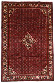 Hosseinabad Matto 203X306 Itämainen Käsinsolmittu Tummanpunainen (Villa, Persia/Iran)