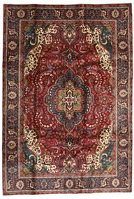 Tabriz Matto 205X295 Itämainen Käsinsolmittu Tummanpunainen/Tummanruskea (Villa, Persia/Iran)