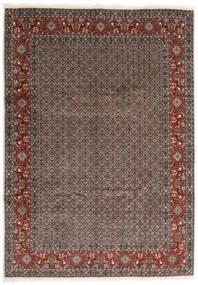 Moud Matto 245X347 Itämainen Käsinsolmittu Tummanharmaa/Tummanpunainen (Villa/Silkki, Persia/Iran)
