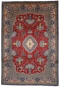 Shahreza Sherkat Matto 239X350 Itämainen Käsinsolmittu Tummanruskea/Tummanpunainen (Villa, Persia/Iran)