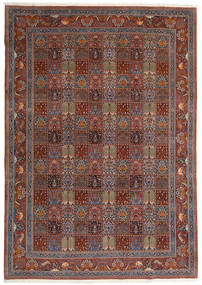 Moud Matto 246X350 Itämainen Käsinsolmittu Tummanpunainen/Ruskea (Villa/Silkki, Persia/Iran)