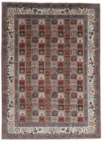 Moud Matto 247X337 Itämainen Käsinsolmittu Tummanruskea/Tummanpunainen (Villa/Silkki, Persia/Iran)