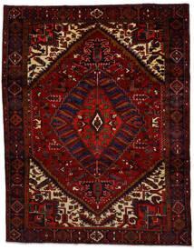 Heriz Matto 260X334 Itämainen Käsinsolmittu Tummanpunainen Isot (Villa, Persia/Iran)
