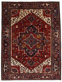 Heriz Matto 212X278 Itämainen Käsinsolmittu Tummanpunainen/Tummanruskea (Villa, Persia/Iran)